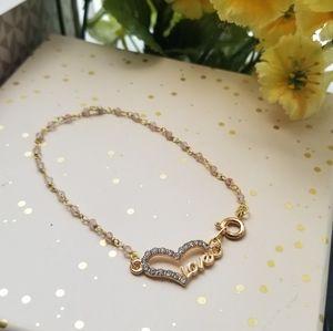 Single Layer Rose Quartz Love Bracelet